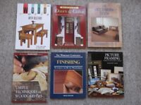 6 DIY reference books - Doors & Gates, Furniture Projects, Woodcarving, Finishing, Picture Framing
