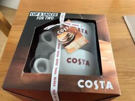 Costa coffee set new in box .