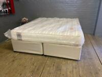 SUPER KING SIZE DIVAN BED BASE WITH DRAWERS AND SEALY MATTRESS