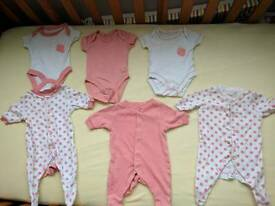 Tiny baby vests and baby grows