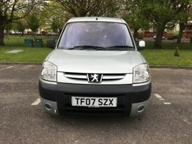 PEUGEOT PARTNER WHEELCHAIR ACCESS CAR, 5 DOORS AND 5 SEATS, LOW MILEAGE 53210, LONG MOT 01 MAY 2019