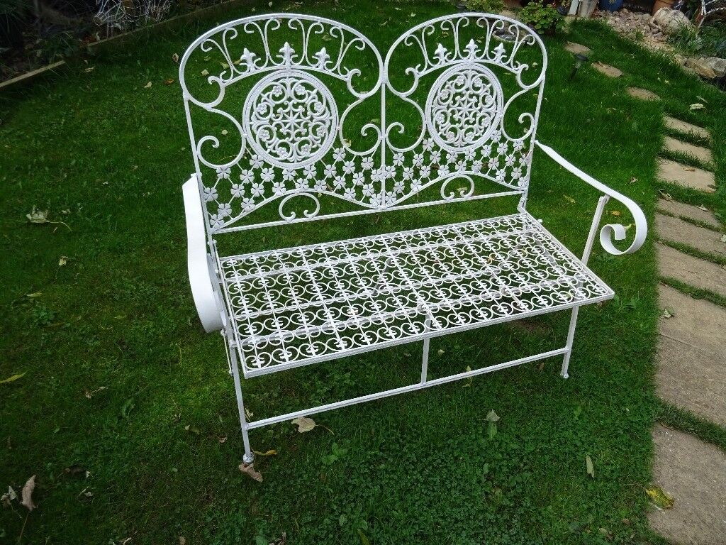 susie wrought bt designs watson bench iron metal garden benches seater