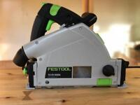 Festool TS55REBQ track saw with rail, bag, clamps and extra blades