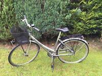 Woman's city bike