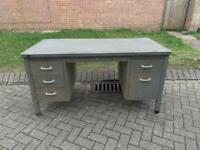 Large industrial 1950s desk