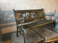 childrens / kids cast iron noahs ark garden bench £20
