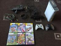 Xbox 360 with 6X games, Kinect and 2X controllers