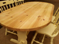 Solid Pine Dining Table (chairs not included) - *Free Local Delivery