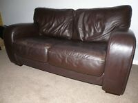Sofa -2 Seater - Dark Brown Leather
