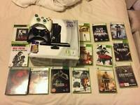Xbox 360 250 gig with Kinect 15 games