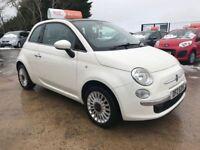Late 2010 Fiat 500 1.4 Lounge White **FINANCE AND WARRANTY** (mini,polo,ka,c1,107)
