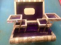 Vintage Bible jewellery silver Box