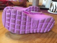 Toddler size 8.5 girls Nike trainers like new