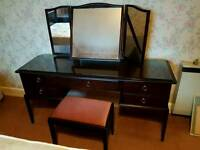 Stag Minstrel collection inc dressing table, 3 drawer chest, 3 over 2 chest and bedside table