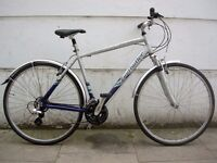 Mens Hybrid/ Commuter Bike by Claude Butler, Silver & Blue, JUST SERVICED/ CHEAP PRICE!!!!!!!!!