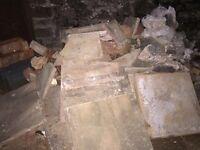 Free rubble/paving slabs