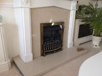 Wooden Fire Surround with Marble Hearth