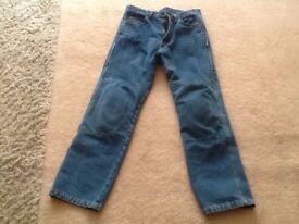 MOTORCYCLE JEANS KEVLAR LINED 32 - 34 WAIST SHORT LEG