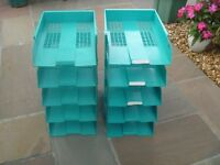 Desk Tidies, stackable, for documents and paperwork