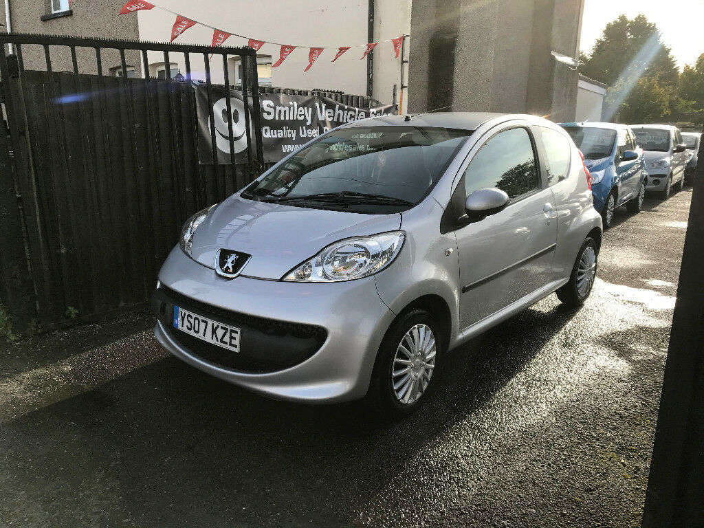 Peugeot 107 Silver 1 Litre Petrol Manual 3 Door Hatchback 2007 FSH Stunning  Car
