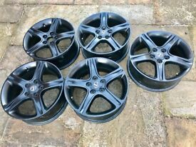 Lexus IS alloy wheels, professionally powder coated.