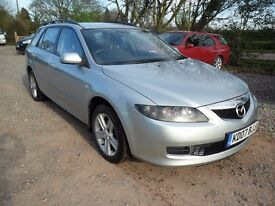 2007 MAZDA 6 2.0D 143 TS ESTATE-NEW MOT-135K-6'SPEED MANUAL-CLIMATE-TOWPACK