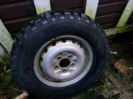 Wheel and tyre shogun warrior