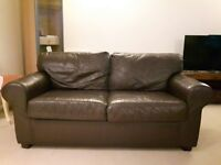 BROWN LEATHER SOFA FOR FREE!