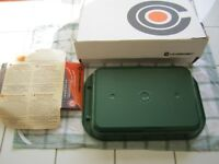 Le Creuset green ribbed rectangular cast iron roasting dish for lower fat cooking – Measures 8 x 12