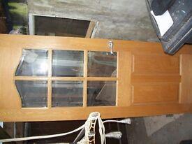wood n glass internal door