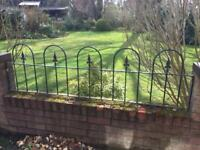 Garden metal railings x5