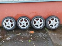 MINI COOPER 16 INCH ALLOYS AND TYRES RUNFLATS