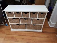 Large Sideboard with Woven Baskets