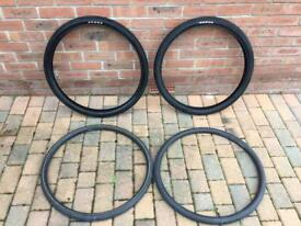 Brand new Kenda road tyres and inner tubes for a mountain bike