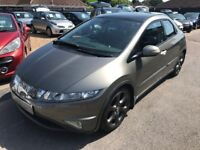 2006/06 HONDA CIVIC 2.2 CTDI EX,5 DOOR,TOP SPEC,2 OWNERS,SERVICE HISTORY,SUPPLIED WITH A NEW MOT