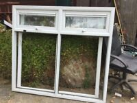 White window, 170cm wide and 155cm high