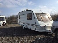 Elddis cyclone GTX 1998 5 berth Hot and cold running water cassette toilet shower oven hobs and