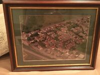 Framed aerial photo of Drighlington (Paddock Drive area)
