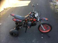 Pit bike trike , quad axel pit bike frame, 110cc rebuilt.
