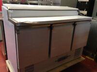 DWM 3 door pizza topping fridge / Brand New / Restaurant