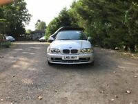 Automatic, convertible, BMW 320CI for sale, leather interior, new MOT, drives perfect.