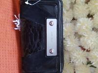 Black leather Karen millian purse