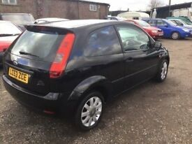 2004 FORD FIESTA NEW CLUTCH FITTED TODAY 3 DOOR HATCH BLACK LEATHER. TINTED WINDOWS ALLOYS WITH MOT