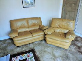 leather 3 piece suite,free