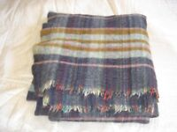 scottish wool blanket ,130cms wide and 140 cms in length