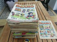 Verious Beano comics and annuals