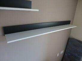 2 Wall shelfs - black & white