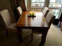 DFS Maison 4 Seat Extending table + 4 chairs