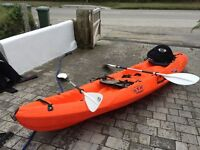 Only Used Once! RTM Two Man Kayak with Two Seats and 2 Paddles