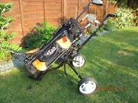 GOLF CLUBS AND TROLLEY JUNIOR/KIDS